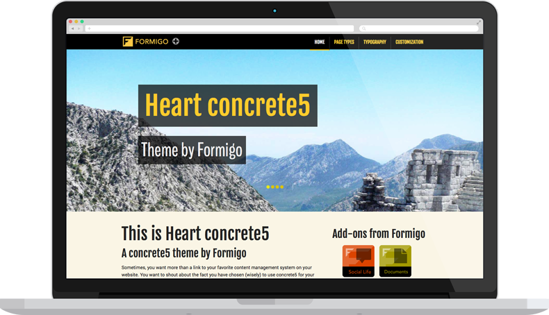 Heart concrete5 - Desktop