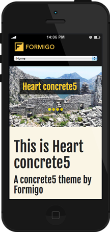 Heart concrete5 - Mobile